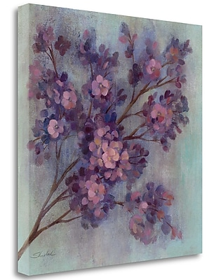 Tangletown Fine Art 'Twilight Cherry Blossoms I' Print on Wrapped Canvas; 25'' H x 25'' W