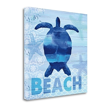 Tangletown Fine Art 'Sea Glass Turtle' Graphic Art Print on Canvas; 20'' H x 20'' W