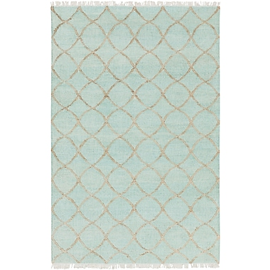 Bungalow Rose Ravenstein Hand-Woven Blue Area Rug; 4' x 6'
