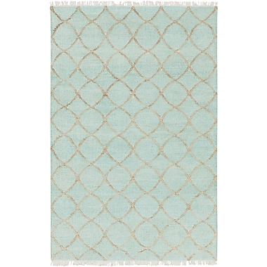 Bungalow Rose Ravenstein Hand-Woven Blue Area Rug; 8' x 10'