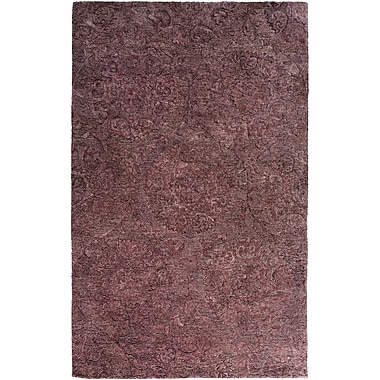 Bungalow Rose Oss Hand-Tufted Purple Area Rug; 6' x 9'