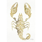 Bungalow Rose Gold Scorpion Artprint Graphic Art on Wrapped Canvas; 60'' H x 40'' W x 1.5'' D