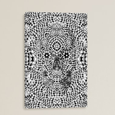 Bungalow Rose Skull VII by Ali Gulec Graphic Art on Wrapped Canvas; 40'' H x 26'' W x 0.75'' D