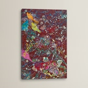 Bungalow Rose Sonidos Del Atardecer Graphic Art on Wrapped Canvas; 12'' H x 8'' W x 0.75'' D