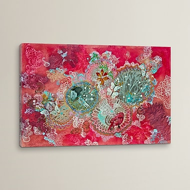 World Menagerie ''Nieve' Painting Print on Wrapped Canvas; 26'' H x 40'' W x 0.75'' D