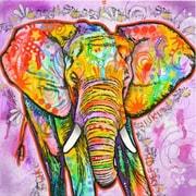 Bungalow Rose Elephant Painting Print on Canvas; 37'' H x 37'' W x 1.5'' D