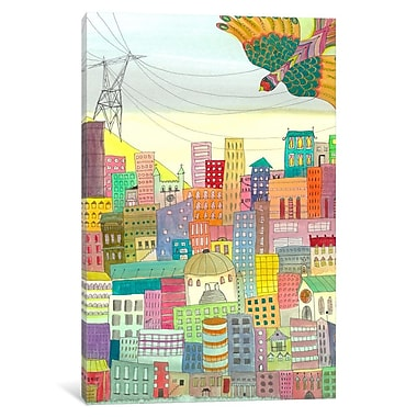 Bungalow Rose Ma Ville Painting Print on Wrapped Canvas; 12'' H x 8'' W x 0.75'' D