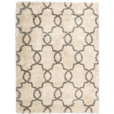 Bungalow Rose Torvehallerne White Shades Area Rug; 3'11'' x 5'11''