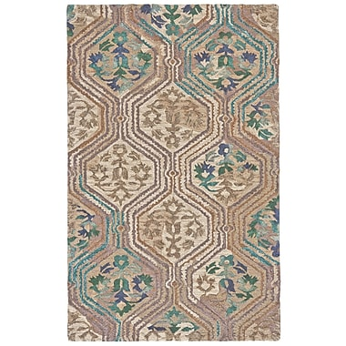 Bungalow Rose Anfa Hand-Tufted Evergreen Area Rug; 5' x 8'