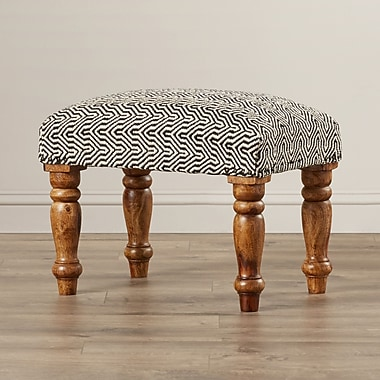 Bungalow Rose Manto Cotton Upholstered Ottoman