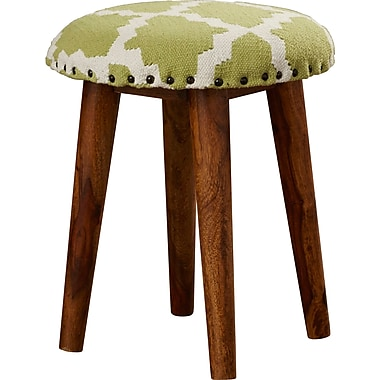 Bungalow Rose Rochon Cotton Upholstered Vanity Stool