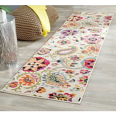 Bungalow Rose Ivory Area Rug; Runner 2'2'' x 6'