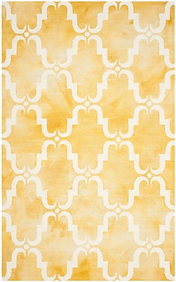 Bungalow Rose Hand-Tufted Gold/Ivory Area Rug; 5' x 8'