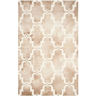 Bungalow Rose Hand-Tufted Dip Beige/Ivory Area Rug; 2'6'' x 4'