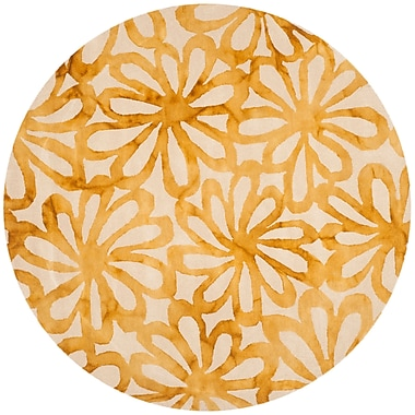 Bungalow Rose Hand-Tufted Beige & Gold Area Rug; Runner 2'3'' x 10'