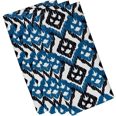 Bungalow Rose Oliver Hipster Geometric Print Napkin (Set of 4); Blue