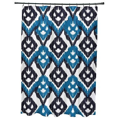 Bungalow Rose Oliver Hipster Geometric Print Shower Curtain; Dark Blue