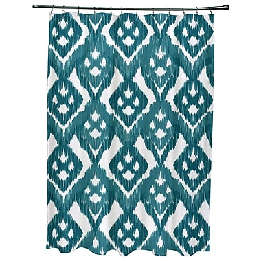 Bungalow Rose Oliver Hipster Geometric Print Shower Curtain; Teal