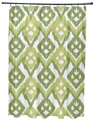 Bungalow Rose Oliver Hipster Geometric Print Shower Curtain; Green