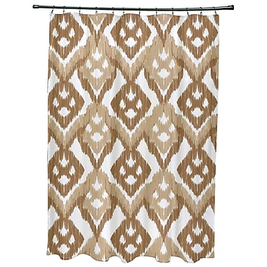 Bungalow Rose Oliver Hipster Geometric Print Shower Curtain; Taupe