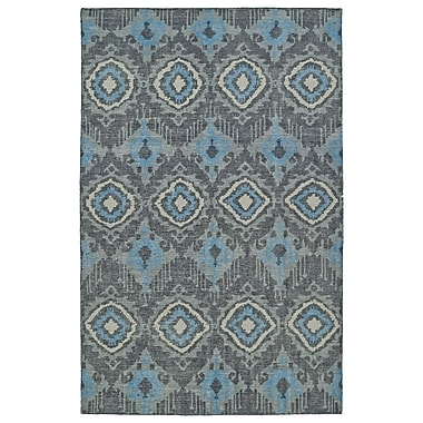 Bungalow Rose Masmoudi Hand-Knotted Charcoal Area Rug; 5'6'' x 8'6''