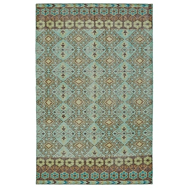 Bungalow Rose Masmoudi Hand-Knotted Turquoise Area Rug; 2' x 3'