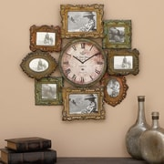 World Menagerie Shahid Metal Clock w/ Photo Frame