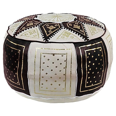 Bungalow Rose Mouassine Moroccan Pouf Leather Ottoman;