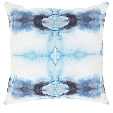 Bungalow Rose Ziggy Outdoor Throw Pillow; Blue