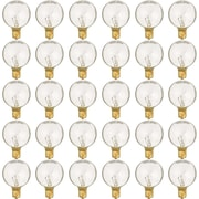 Newhouse Lighting Indoor/Outdoor Weatherproof G40 Replacement Party String Light with E12 Base, 25-Pack (PSTRINGBULB25)