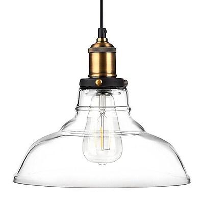 Newhouse Lighting Rustic Vintage Edison Style 1-Light Pendant Glass Hanging Light Kit (GHPENKIT)