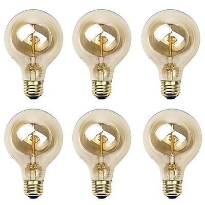 Newhouse Lighting G25 Incandescent Thomas Edison Filament Globe Light Bulb, 6-Pack (G25INC-6)