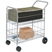 Fellowes® Chrome-Plated Steel Mail Cart