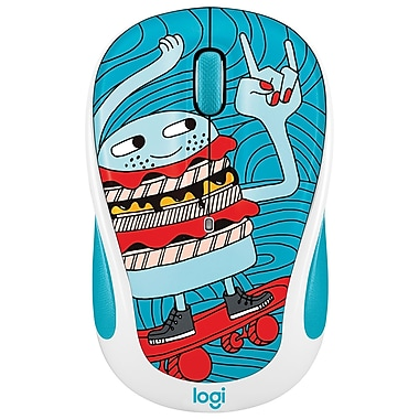 Logitech – Souris sans fil M325C de la collection Doodle, Skate Burger (LOG-910-005028)