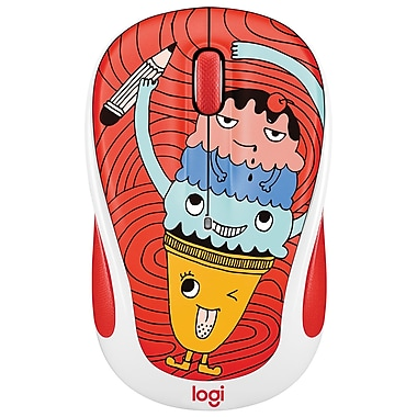 Logitech – Souris sans fil M325C de la collection Doodle, Triple Scoop (LOG-910-005026)