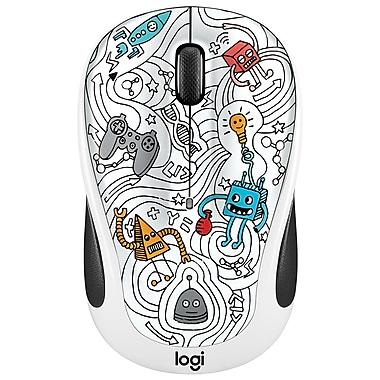 Logitech – Souris sans fil M325C de la collection Doodle, Techie White (LOG-910-005034)