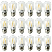 Newhouse Lighting Outdoor Weatherproof 2W S14 LED Replacement String Light Bulbs, Standard Base, 18-Pack (S14LED18)