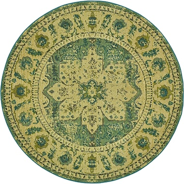 World Menagerie Killington Green Area Rug; Round 6'