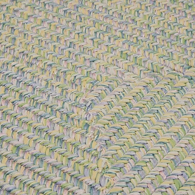 Bungalow Rose Huntington Hand-Woven Green/Gold Area Rug; Runner 2' x 8'
