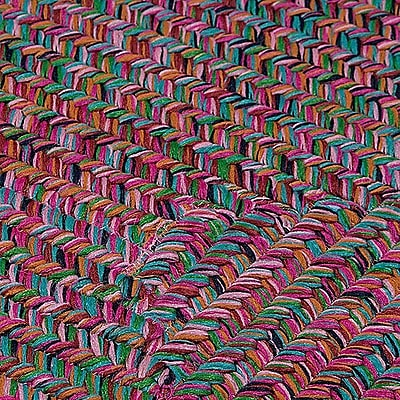 Bungalow Rose Huntington Hand-Woven Pink/Green Area Rug; Square 10'