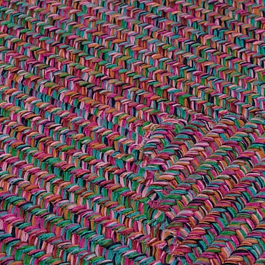Bungalow Rose Huntington Hand-Woven Pink/Green Area Rug; Square 4'