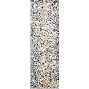 Bungalow Rose Koury Light Blue/Beige Area Rug; Runner 2'2'' x 6'7''