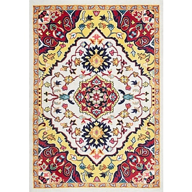 Mistana Rana Yellow/Red Area Rug; 4'1'' x 6'