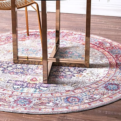 Bungalow Rose Huhn Area Rug; Round 5'3''