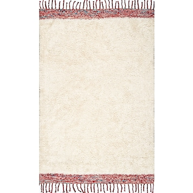 Bungalow Rose Ibrahima Hand Tufted Cream Area Rug; Rectangle 7'6'' x 9'6''