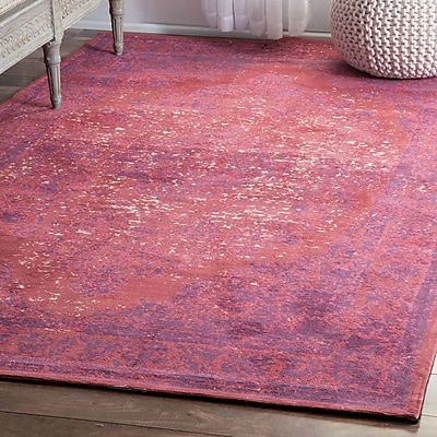 Bungalow Rose Iyed Pink Area Rug; 7'6'' x 9'6''