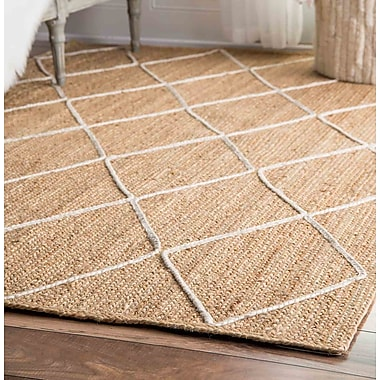 Bungalow Rose Aymeric Hand-Woven Natural Area Rug; 8' x 10'