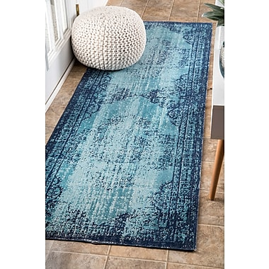 Bungalow Rose Azar Blue Area Rug; Runner 2'8'' x 8'