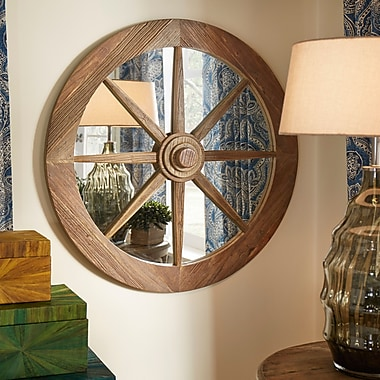 Bungalow Rose Round Boat Helm Mirror; 36'' H x 36'' W x 3'' D