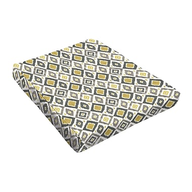 Bungalow Rose Outdoor Dining Chair Cushion (Set of 2); Grey / Gold